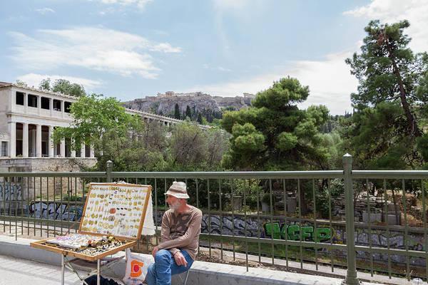 Wall Art - Photograph - The Jewellery Street Vendor Near Stoa Of Attalos by Iordanis Pallikaras