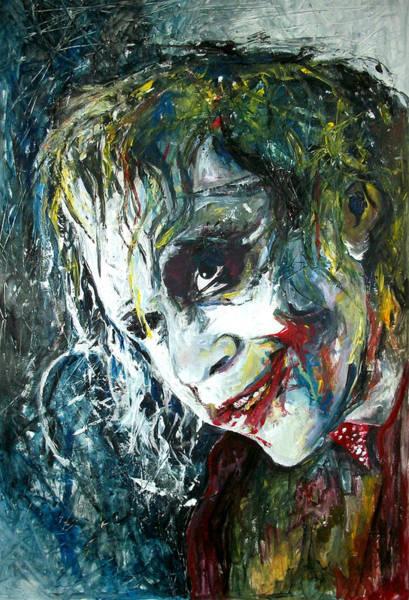 Experiment Painting - The Joker - Heath Ledger by Marcelo Neira