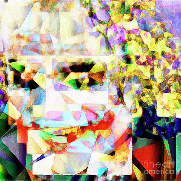 The Joker Photograph - The Joker In Abstract Cubism 20170403 Square by Wingsdomain Art and Photography