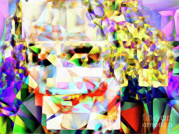 The Joker Photograph - The Joker In Abstract Cubism 20170403 by Wingsdomain Art and Photography
