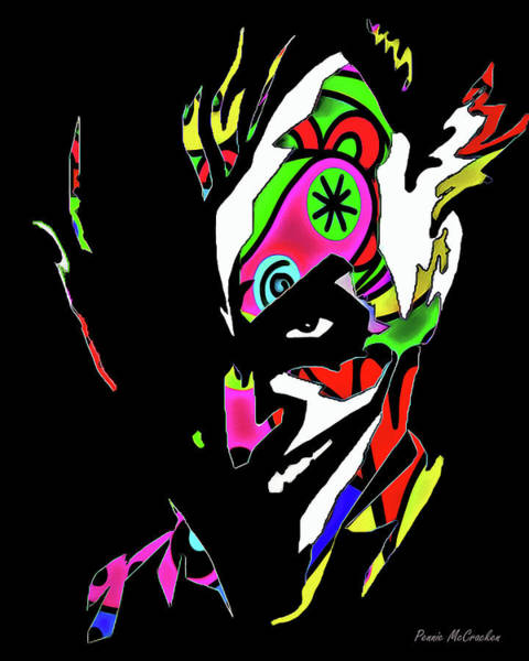 Digital Art - The Joker - In Colour by Pennie McCracken