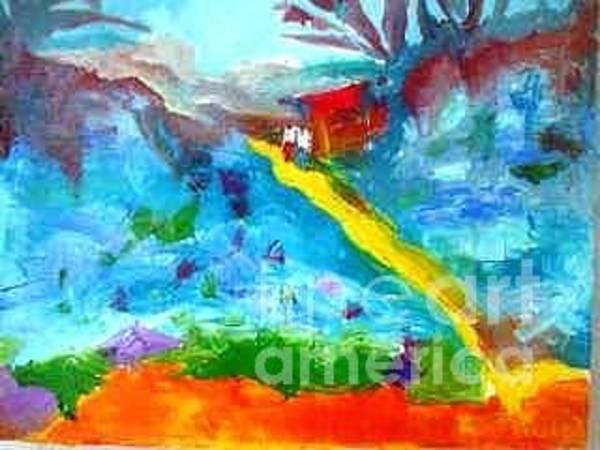 Ghana Painting - The Journey by Benedict Olugbenga Adedipe