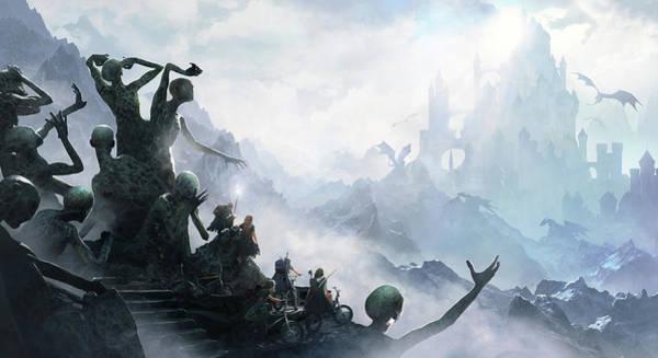 Dragon Digital Art - The Journey by Guillem H Pongiluppi