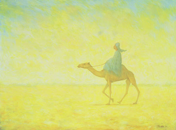 Camel Painting - The Journey by Tilly Willis