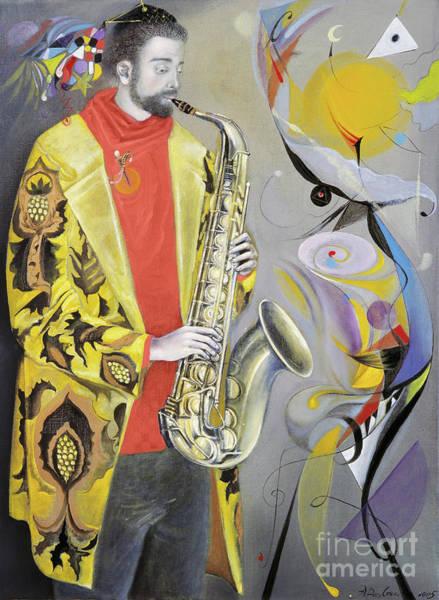 Live Music Painting - The Joy Of Autumn  by Annael Anelia Pavlova