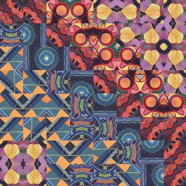 Painting - The Joy Of Design Mandala Series Puzzle 5 Arrangement 6 by Helena Tiainen