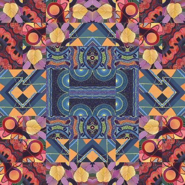 Painting - The Joy Of Design Mandala Series Puzzle 5 Arrangement 7 by Helena Tiainen