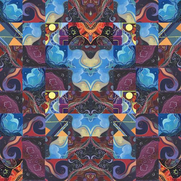 Digital Art - The Joy Of Design Mandala Series Puzzle 6 Arrangement 1 by Helena Tiainen
