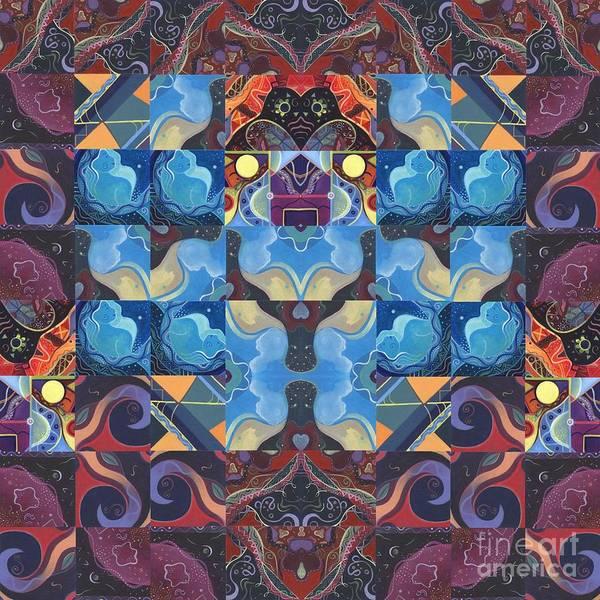 Digital Art - The Joy Of Design Mandala Series Puzzle 6 Arrangement 6 by Helena Tiainen