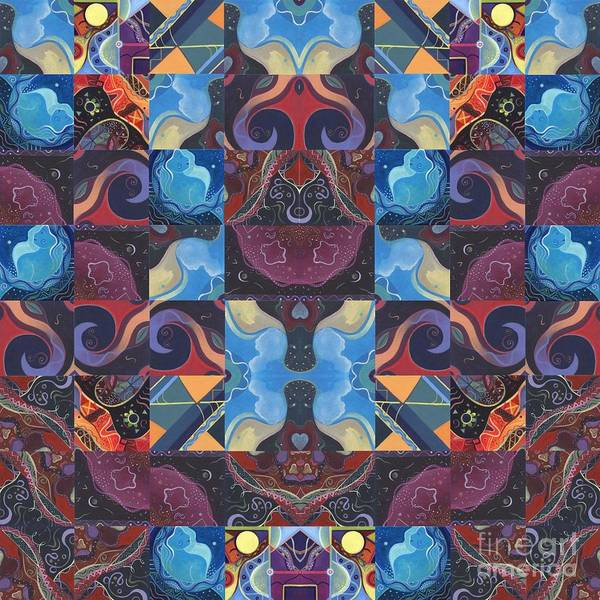 Digital Art - The Joy Of Design Mandala Series Puzzle 6 Arrangement 7 by Helena Tiainen