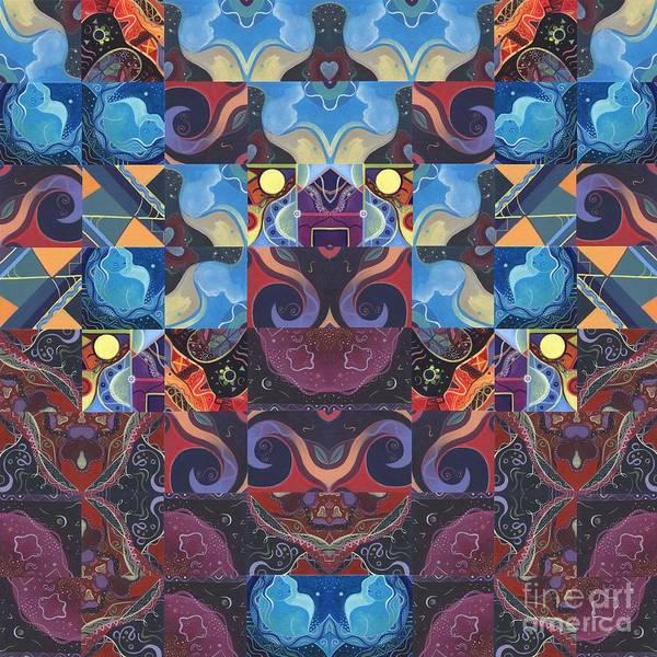 Digital Art - The Joy Of Design Mandala Series Puzzle 6 Arrangement 8 by Helena Tiainen