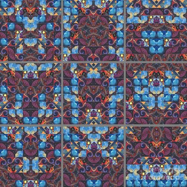 Mixed Media - The Joy Of Design Mandala Series Puzzle 6 by Helena Tiainen