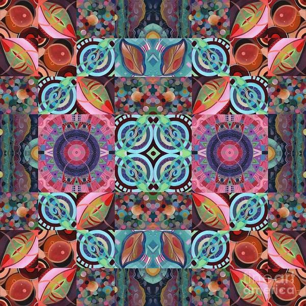 Painting - The Joy Of Design Mandala Series Puzzle 7 Arrangement 1 by Helena Tiainen