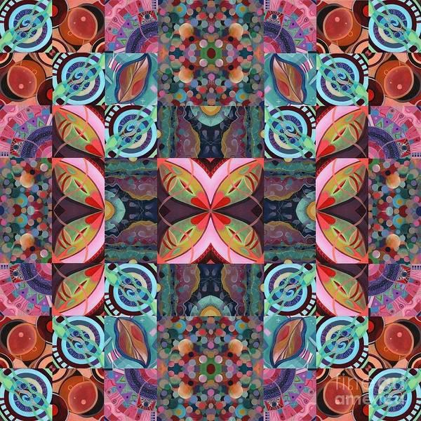 Mixed Media - The Joy Of Design Mandala Series Puzzle 7 Arrangement 2 by Helena Tiainen