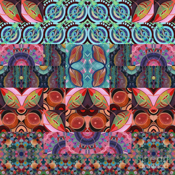 Mixed Media - The Joy Of Design Mandala Series Puzzle 7 Arrangement 3 by Helena Tiainen