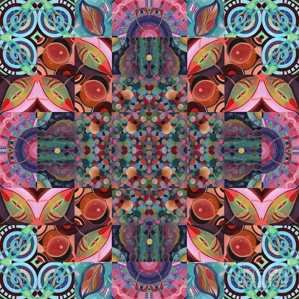 Mixed Media - The Joy Of Design Mandala Series Puzzle 7 Arrangement 4 by Helena Tiainen