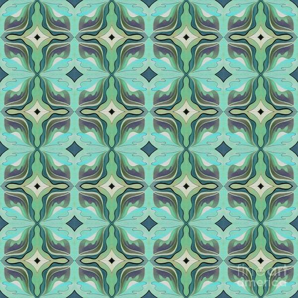 Digital Art - The Joy Of Design X X X I I Arrangement 1 Inverted Tile 4x4 by Helena Tiainen