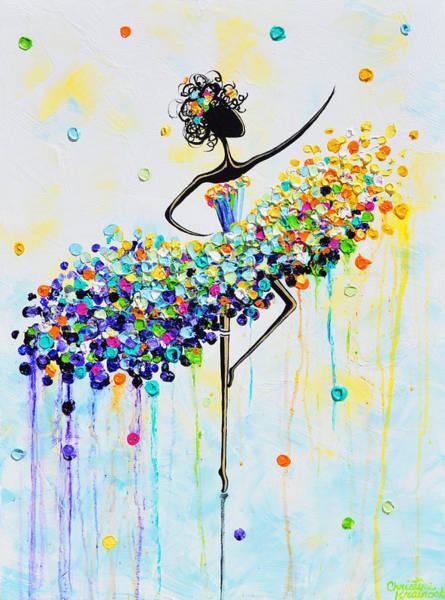 Wall Art - Painting - The Joyful Dancer by Christine Bell