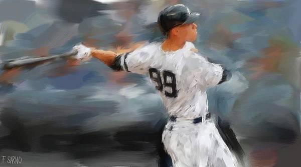 Yankee Stadium Digital Art - The Judge by Frank Sarno