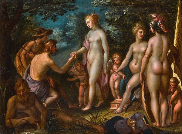 Wall Art - Painting - The Judgement Of Paris by Antwerp School