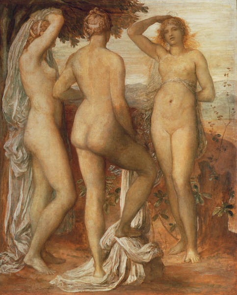 Judgement Wall Art - Painting - The Judgement Of Paris by George Frederic Watts