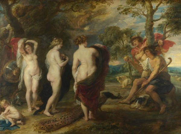 Painting - The Judgement Of Paris by Peter Paul Rubens