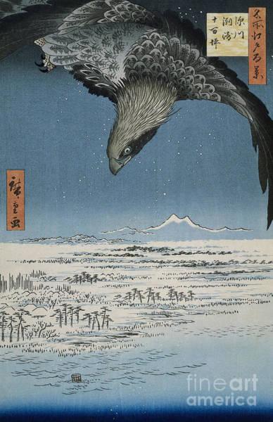Wall Art - Painting - The Jumantsubo Plain In Susaki Near Fukagawa, 1857 by Hiroshige