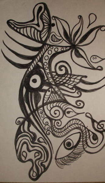 Oahu Drawing - The Jumpfish by Erika Swartzkopf