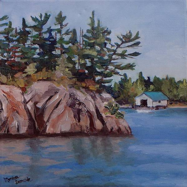 Painting - The Jumping Rock by Monica Ironside