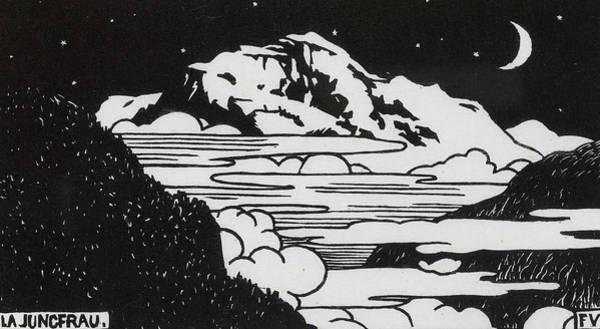 Wall Art - Drawing - The Jungfrau by Felix Edouard Vallotton