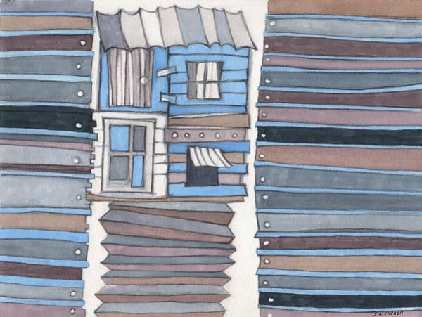 Semi Abstract Drawing - Fixer Upper by Sandra Church