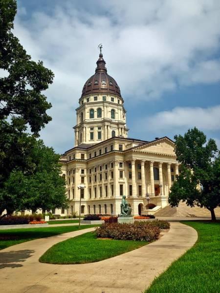 Topeka Wall Art - Photograph - The Kansas State Capitol - Topeka by Ranagy