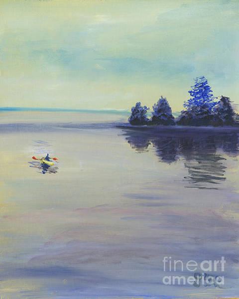 Wall Art - Painting - The Kayacker by Gloria Condon