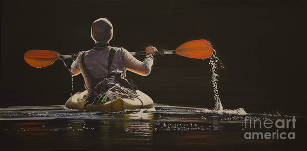 Painting - The Kayaker by Laurie Tietjen