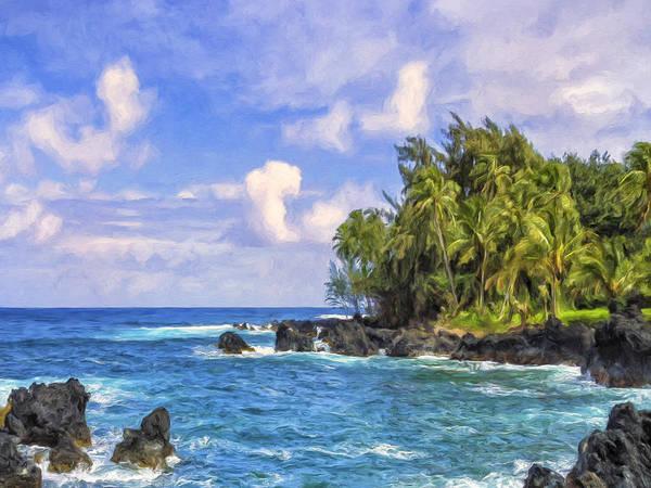 Painting - The Ke'anae Peninsula Maui by Dominic Piperata