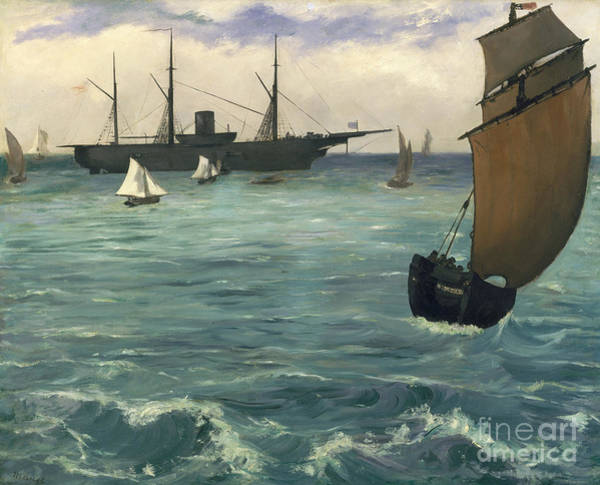 Wall Art - Painting - The Kearsarge At Boulogne, 1864 by Edouard Manet