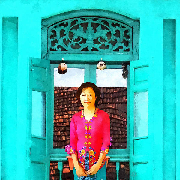 The Kebaya Lady  Art Print
