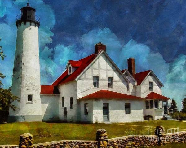 Digital Art - The Keeper's House 2015 by Kathryn Strick