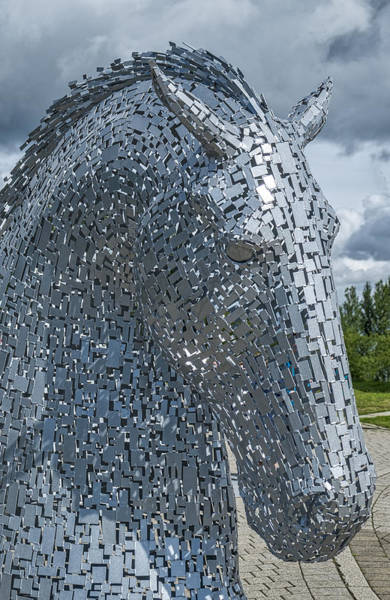 Photograph - The Kelpies In Falkirk by Jeremy Lavender Photography