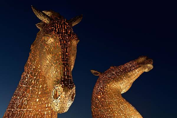 Photograph - The Kelpies In Orange by Stephen Taylor