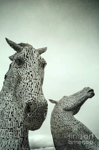 Photograph - The Kelpies Scotland by David Lichtneker