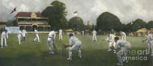 Stump Painting - The Kent Eleven Champions, 1906 by Albert Chevallier Tayler