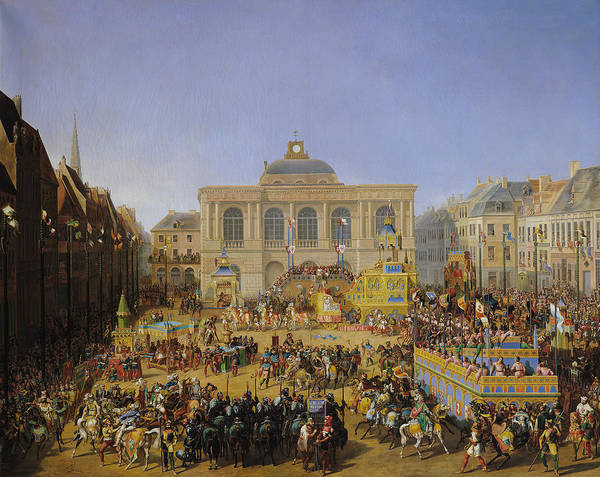 Wall Art - Painting - The Kermesse At Saint-omer In 1846 by Auguste Jacques Regnier