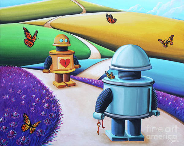 Lowbrow Wall Art - Painting - The Key To My Heart by Cindy Thornton