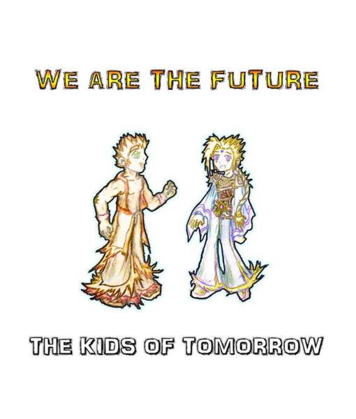 Digital Art - The Kids Of Tomorrow Corie And Albert by Shawn Dall
