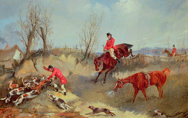Snorting Wall Art - Painting - The Kill by Henry Alken Junior