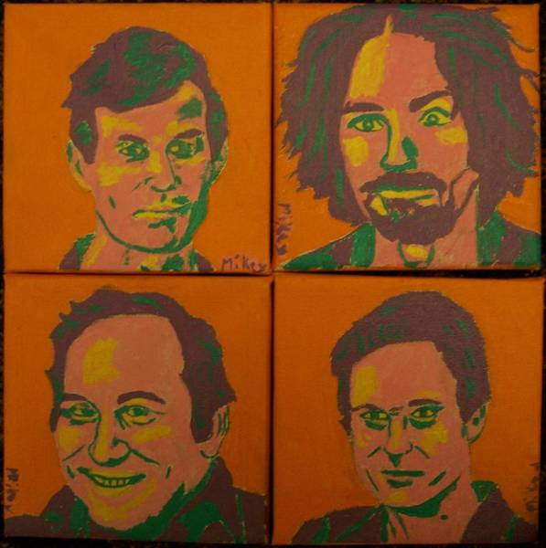 Ted Bundy Painting - The Killers by Mikey Milliken