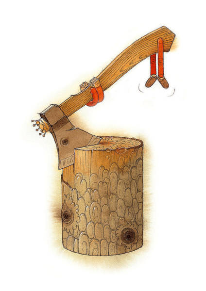 Axe Wall Art - Painting - The King Axe by Kestutis Kasparavicius
