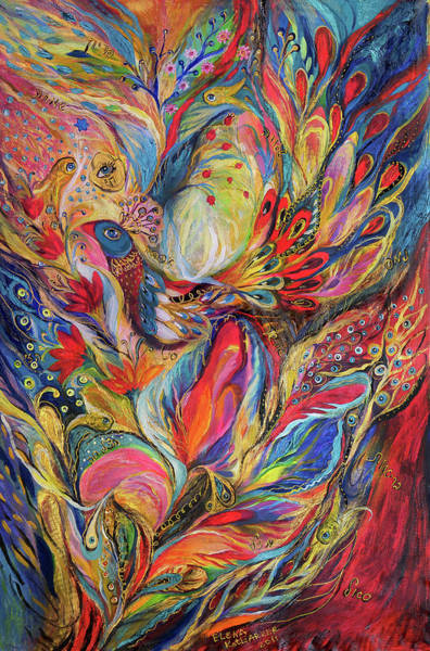 Mizrach Painting - The King Bird by Elena Kotliarker