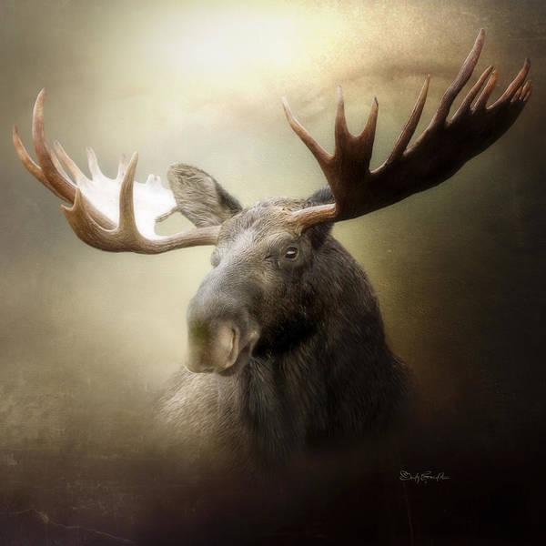 Antlers Digital Art - The King by Cindy Grundsten
